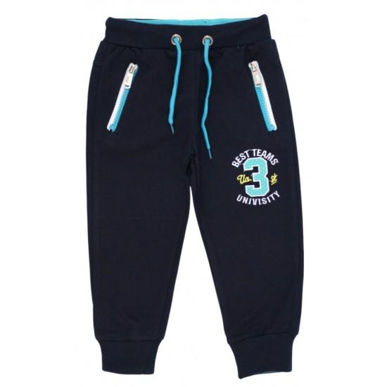 Pantaloni trening baieti 3 university bleumarin-albastru