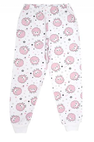 Pantaloni casa bumbac oite roz