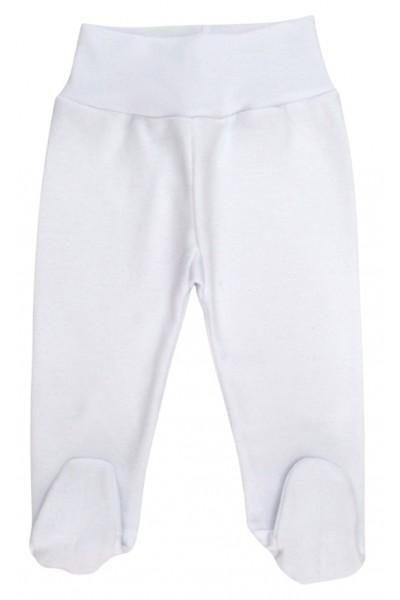 Pantaloni bumbac botosei bebe alb