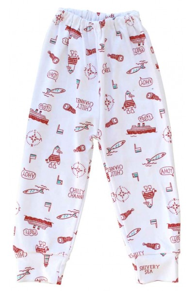 pantaloni casa bumbac ahoy rosu