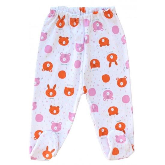 pantaloni botosel bumbac cap urs portocaliu
