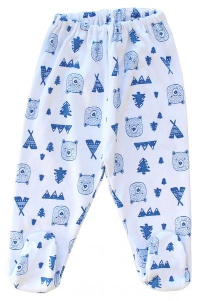 pantaloni botosel bumbac cap urs albastru