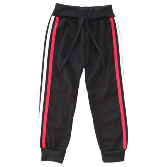 pantaloni trening dungi alb-rosi