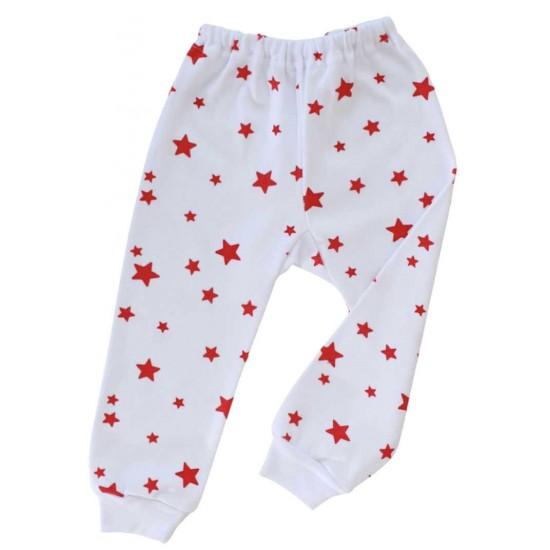 pantaloni stelute rosii