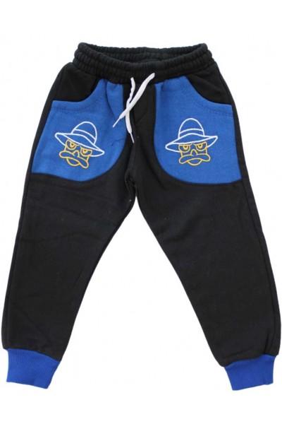 pantaloni bumbac copii bleumarin-albastru