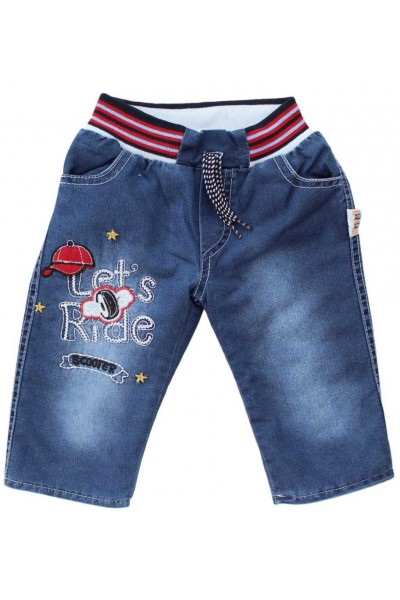 pantaloni copii denim imblaniti let`s ride