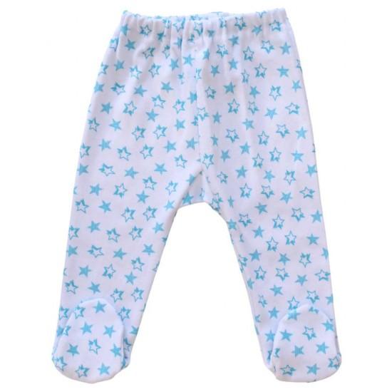 pantalonl botosel stelute bleu