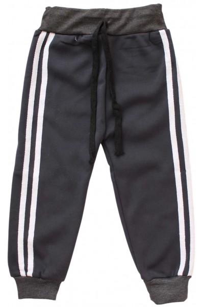 pantaloni trening gri dungi albe