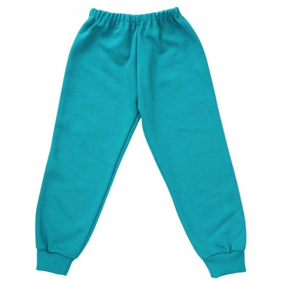 pantaloni copii trening verde-turcoaz