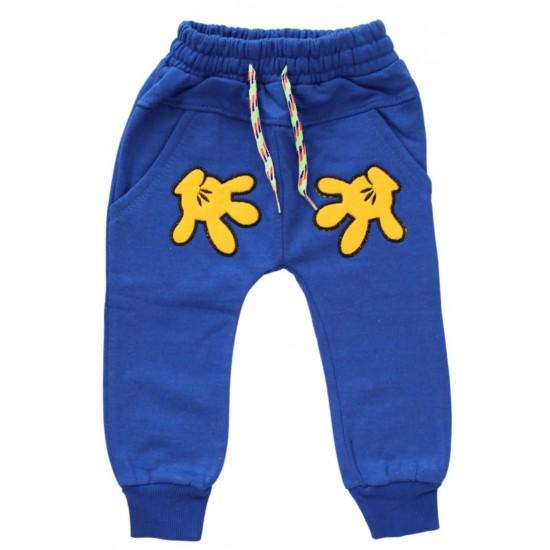 pantaloni albastri manute