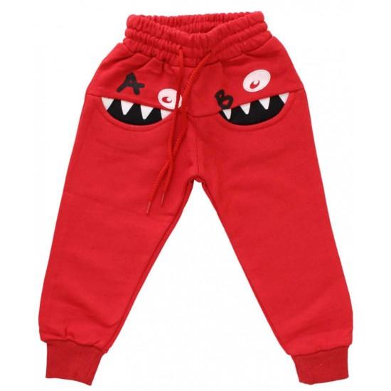 pantaloni a&b rosii