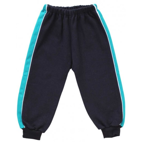 pantaloni trening vatuiti copii bleumarin insert turcoaz