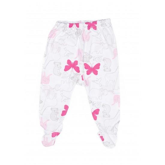 pantaloni botosel bumbac fluturi roz