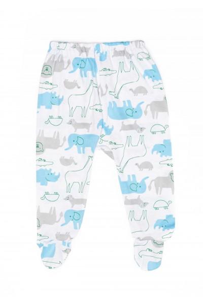 Pantalon botosel azuga bumbac subtire elefanti bleu