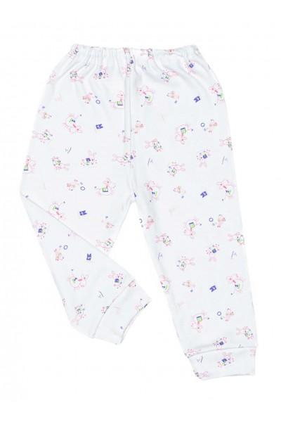 Pantaloni casa iris animalute roz