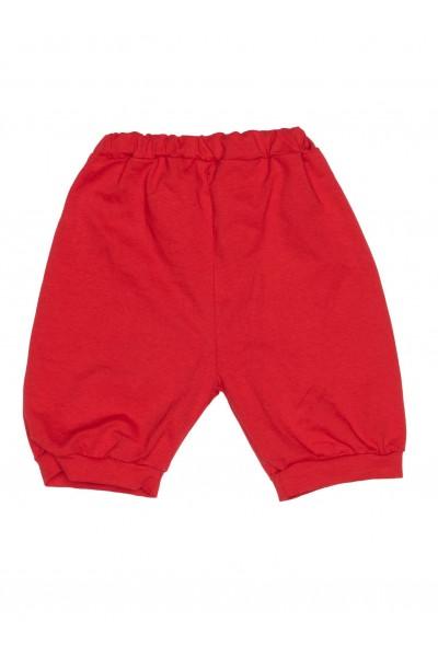Pantaloni scurti bebe bumbac bufanti rosii