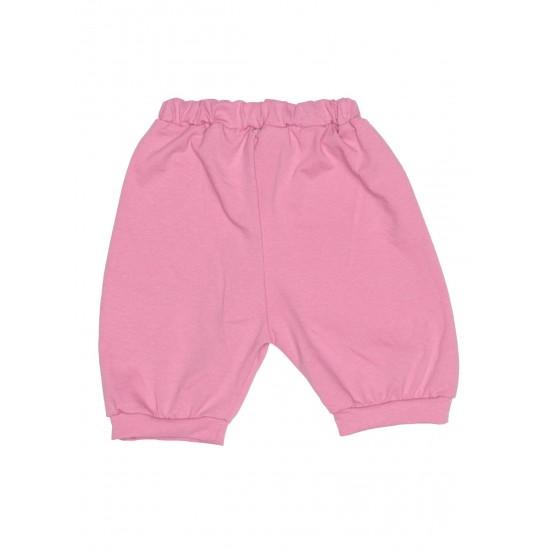 Pantaloni scurti bebe bumbac bufanti lila