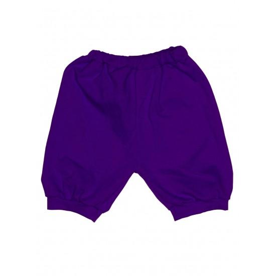 Pantaloni scurti bebe bumbac bufanti mov