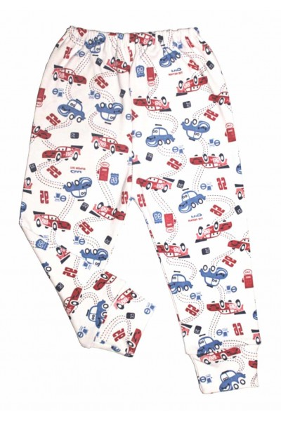 Pantaloni casa adonis masini rosii-albastre