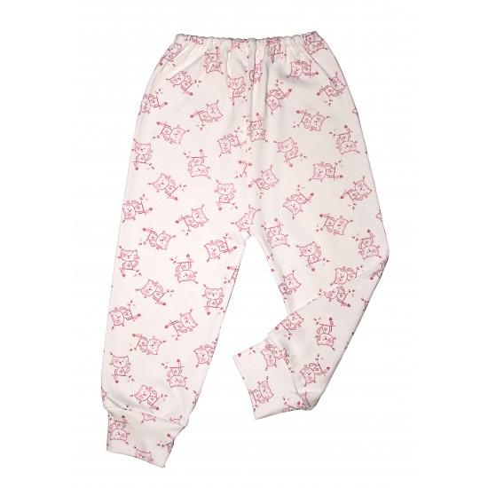 Pantaloni casa adonis pisici roz