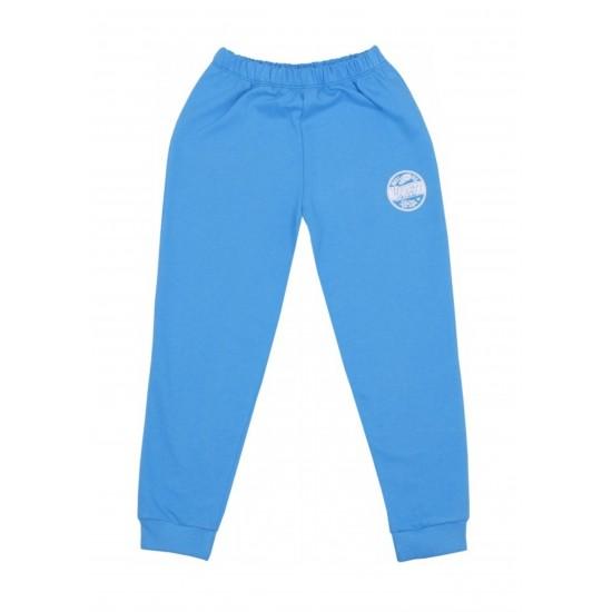 Pantaloni trening subtire kara albastru