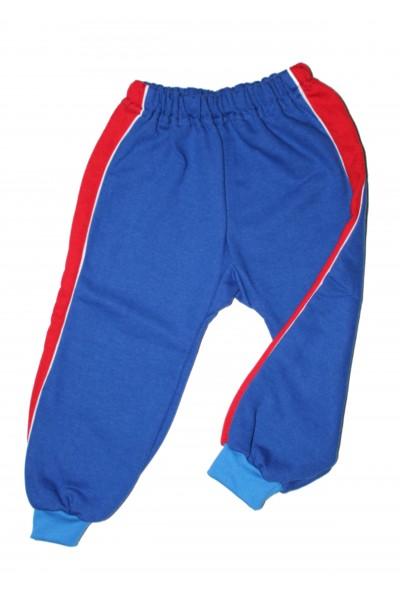 pantaloni trening azuga albastru insert lateral rosu vatuiti