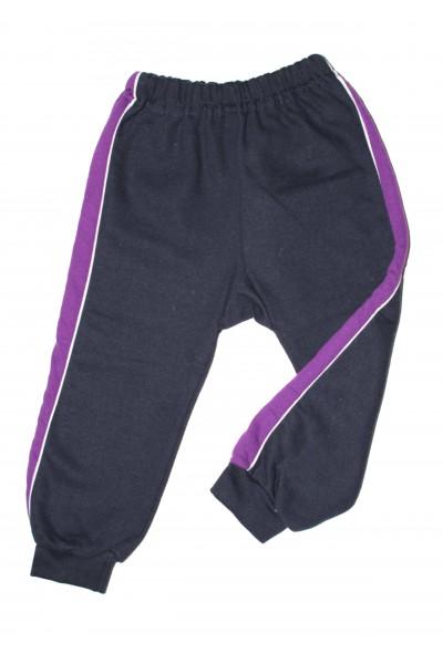 pantaloni trening azuga gri petrol insert lateral mov