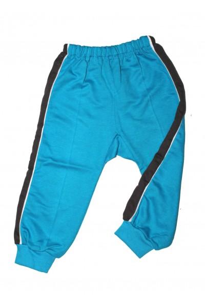 pantaloni trening azuga turcoaz insert lateral gri petrol