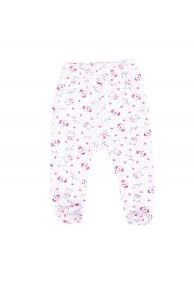 pantaloni botosel azuga imprimeu animalute roz