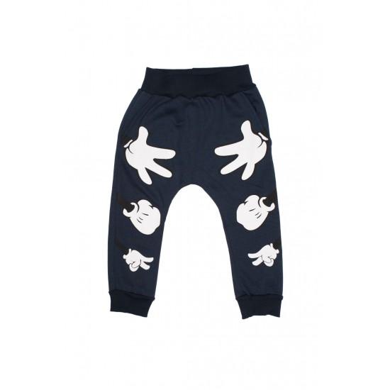 Pantaloni boksor bleumarin imprimeu manute