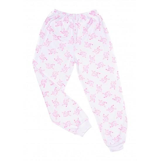 Pantaloni casa bumbac subtire azuga pisicute roz