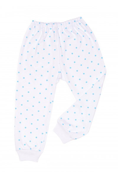 Pantaloni casa azuga buline bleu