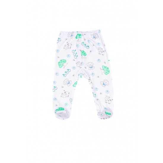 pantalon botosel azuga imprimeu ferma verde