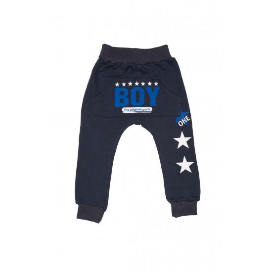 pantaloni boys uc iplik bleumarin
