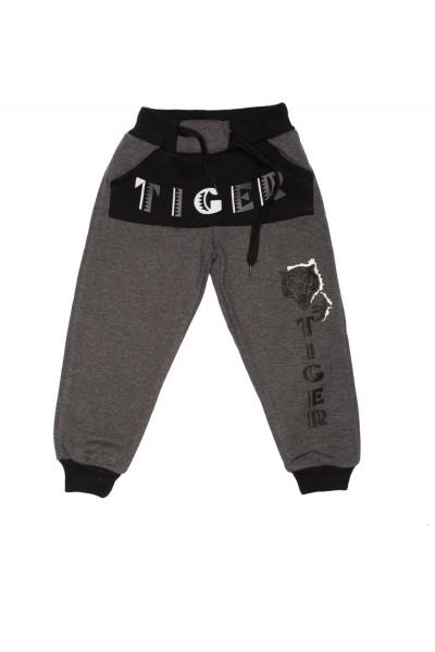 pantalon asya gri petrol imprimeu tigru
