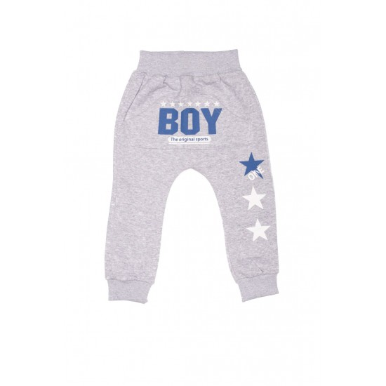 pantaloni boksor gri imprimeu ,,boy,,