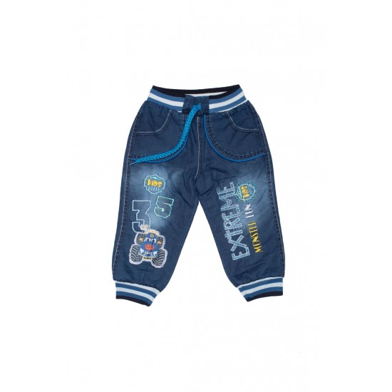 Pantaloni denim baieti balli imblaniti