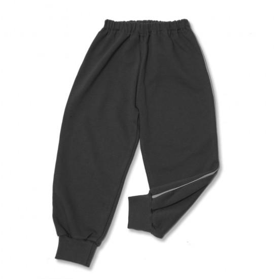 pantalon trening azuga gri petrol vipusca alba