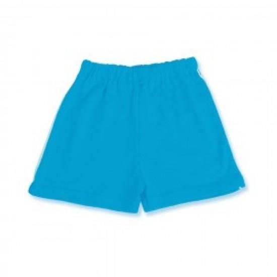 Pantaloni bebe scurti bumbac Azuga albastru-turcoise