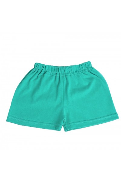 pantaloni bebe scurti bumbac azuga verde-turcoaz