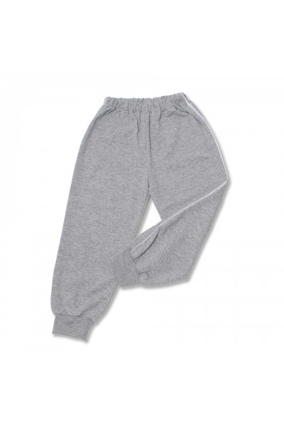 pantalon trening azuga gri vipusca alba