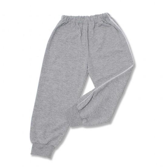 pantaloni trening azuga gri vipusca alba