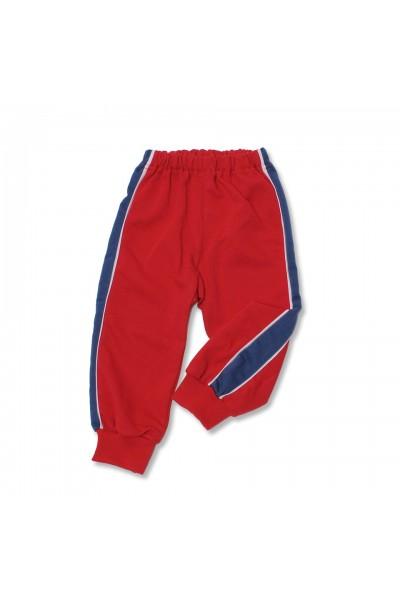 pantalon trening azuga rosu insert lateral turqoise