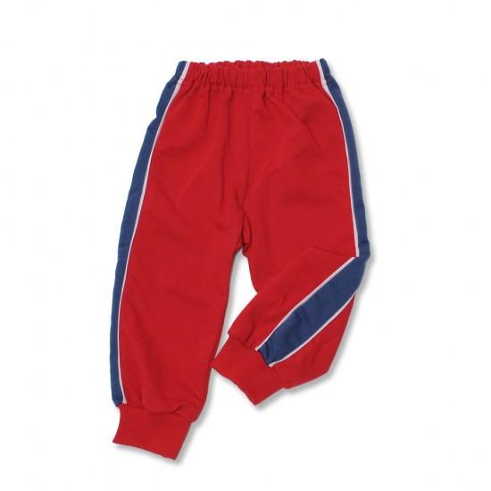 pantaloni trening azuga rosu insert lateral turqoise