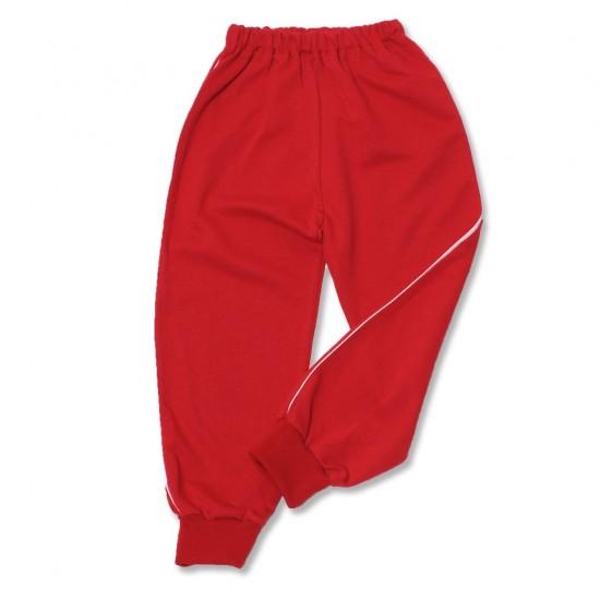 pantalon trening azuga rosu vipusca alba