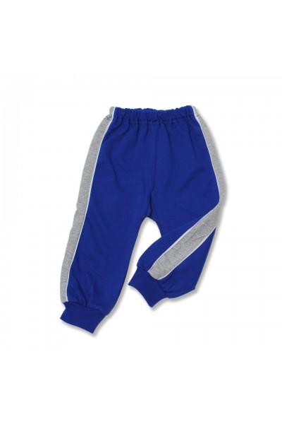 pantaloni trening azuga albastri insert lateral gri vatuiti