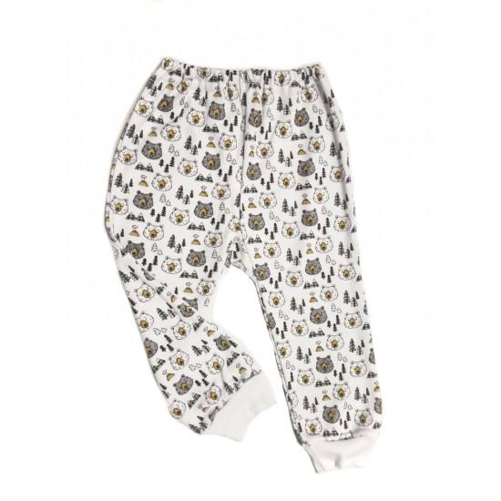 pantaloni casa azuga imprimeu cap urs