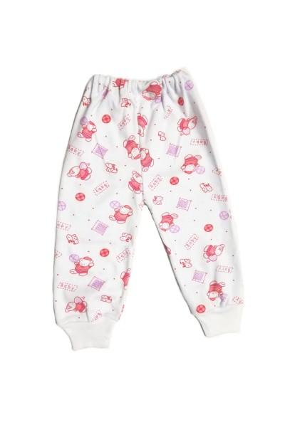 pantaloni casa baby confex ursuleti rosii