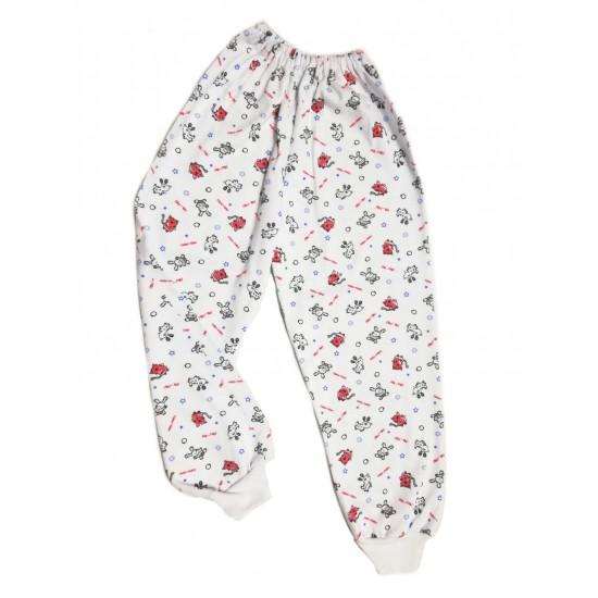 Pantaloni casa baby confex animalute rosi-negre