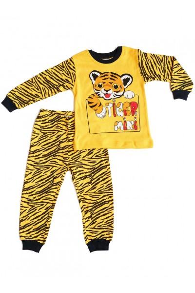 Pijamale copii bumbac imprimeu tigru